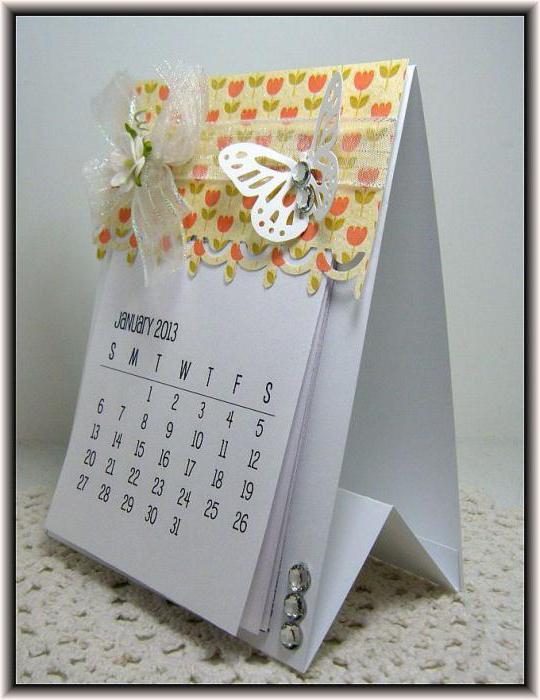 Как сделать календарь о открыткой